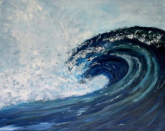 Blue table 73 x 60 acrylic modern painting