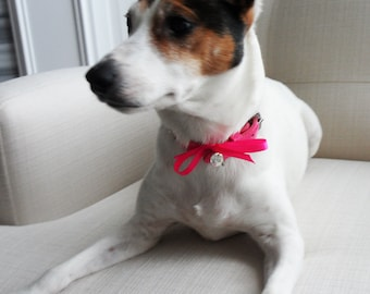 Dog Wedding I DO Charm with Colored Crystal.  Perfect addition to your Bouquet or Pet's Collar