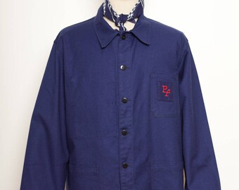 French Blue Work Jacket Embroidery