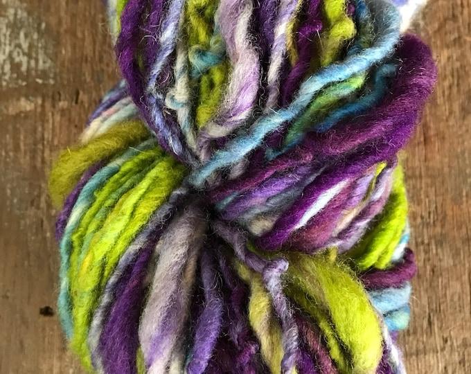 Runnin' Down a Dream - handspun aran/light bulky yarn, 130 yards, bulky yarn, rustic art yarn, chunky yarn, wool handspun yarn
