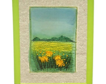 Wall hanging Textile Art  Framed picture Embroidery painting Homeware decoration gift