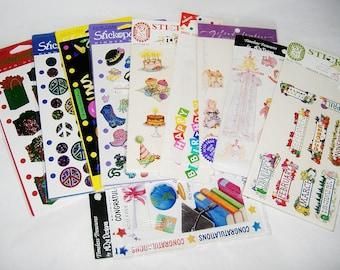 Vintage Mixed Sticker Lot • used • Stickopotamus, Melissa Neufeld, Timeless Treasures, Grossman's