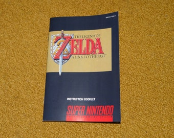 Super Nintendo The Legend of Zelda A Link to the Past reprinted manual