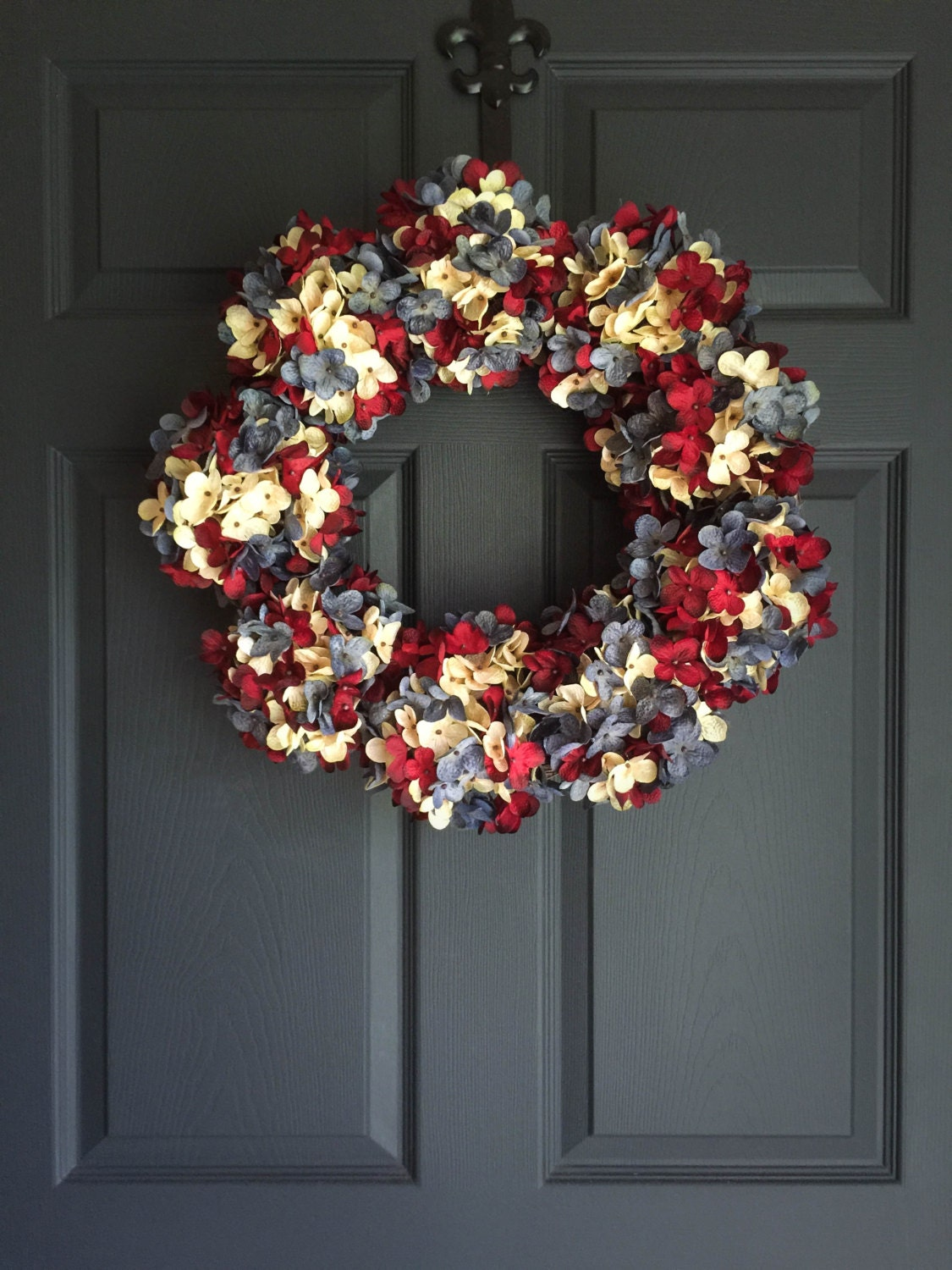 Spectacular Red White Blue Wreath 4th Of July Wreath
