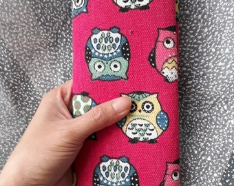 Vintage Handmade wallet, Business Card Holder, Credit Card Case, Gift Card Holder, Keychain, Zipper wallet, woman wallet, owl wallet,  Pouch