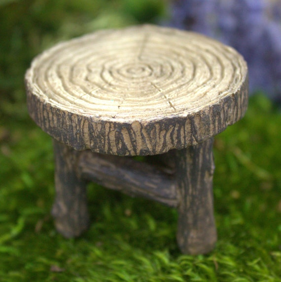 Fairy Garden Wood Table 1.75″ Tall | 2″ Diameter