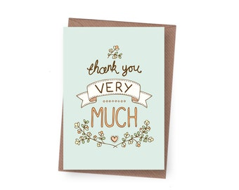 SALE Thank You Greeting Card - 60% off