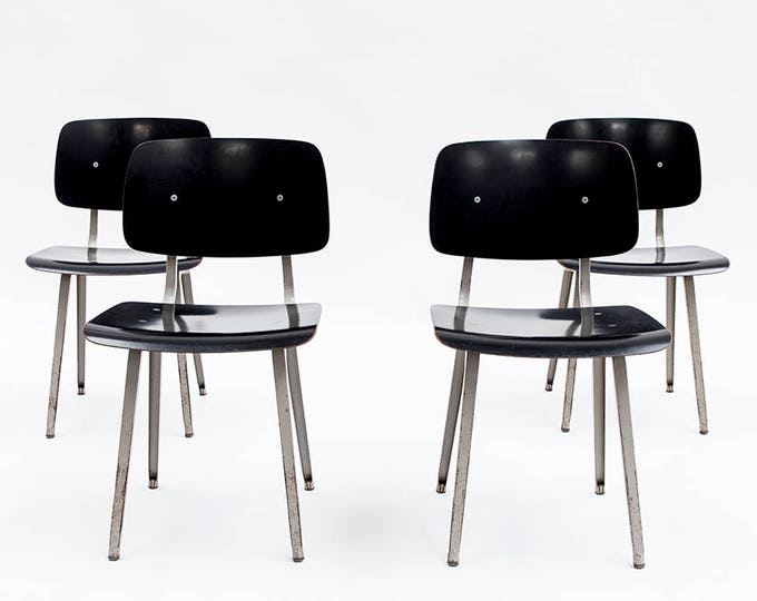 Friso Kramer revolt chair for Ahrend de Cirkel, the Netherlands, 1958 (SET OF 8)