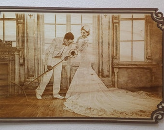Engrave your favorite Photo on this Plaque and add personal text. Wedding photo, family photo, baby photo