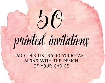 Set of 50 Printed Invitations