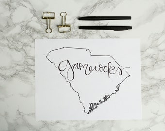 South Carolina: Gamecocks Print