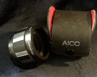 Converter Lens, Aico Photo Lens, Vintage Photography, Camera Equipment, 3x Converter Lens, Collectibles, Vintage Camera