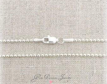 """Sterling Silver Ball Chain, 1.5mm Mini Ball, 24"""" Ball Chain, 24"""" Necklace, layering chain, layering necklace, Silver Ball chain"""