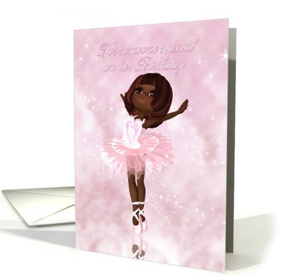 Ballet Dancer Birthday Card Ballerina Birthday Card A