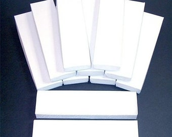 TAX SEASON Stock up 20 Pack White Color Cotton Filled 8X2X1 Inch Size Retail Jewelry Gift Presentation Boxes