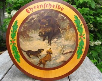 Vintage Ehrenschiebe Honor Shoot Honor Plate - German Hunt Club Honor Plate
