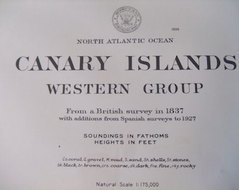 Canary Islands, North Atlantic Ocean - Western Group - Nautical Chart 2277