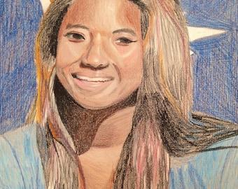Custom colored pencil portraits