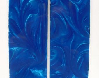 Blue Pearl Scales Knife Handles Gun Grips