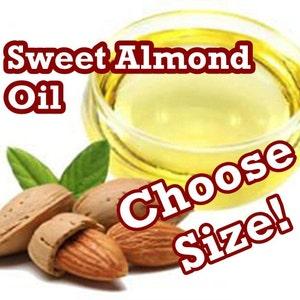 SWEET ALMOND OIL - 16 or 32 oz size! (Pure & Fresh) Bulk Sizes - Wholesale Prices!