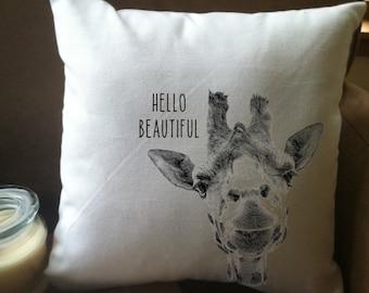 funny giraffe  throw pillow cover, custom throw pillow, decorative throw pillow