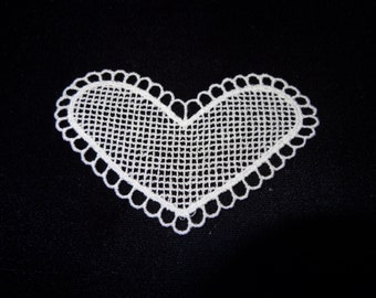 White Cotton Hearts - Lot of 12