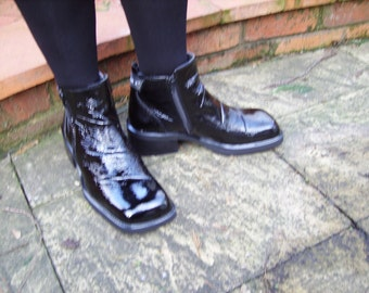 Mens Patent Leather Boot