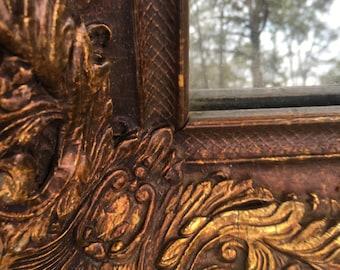 Vintage Mirror, Retangler Mirror, Farmhouse Decor