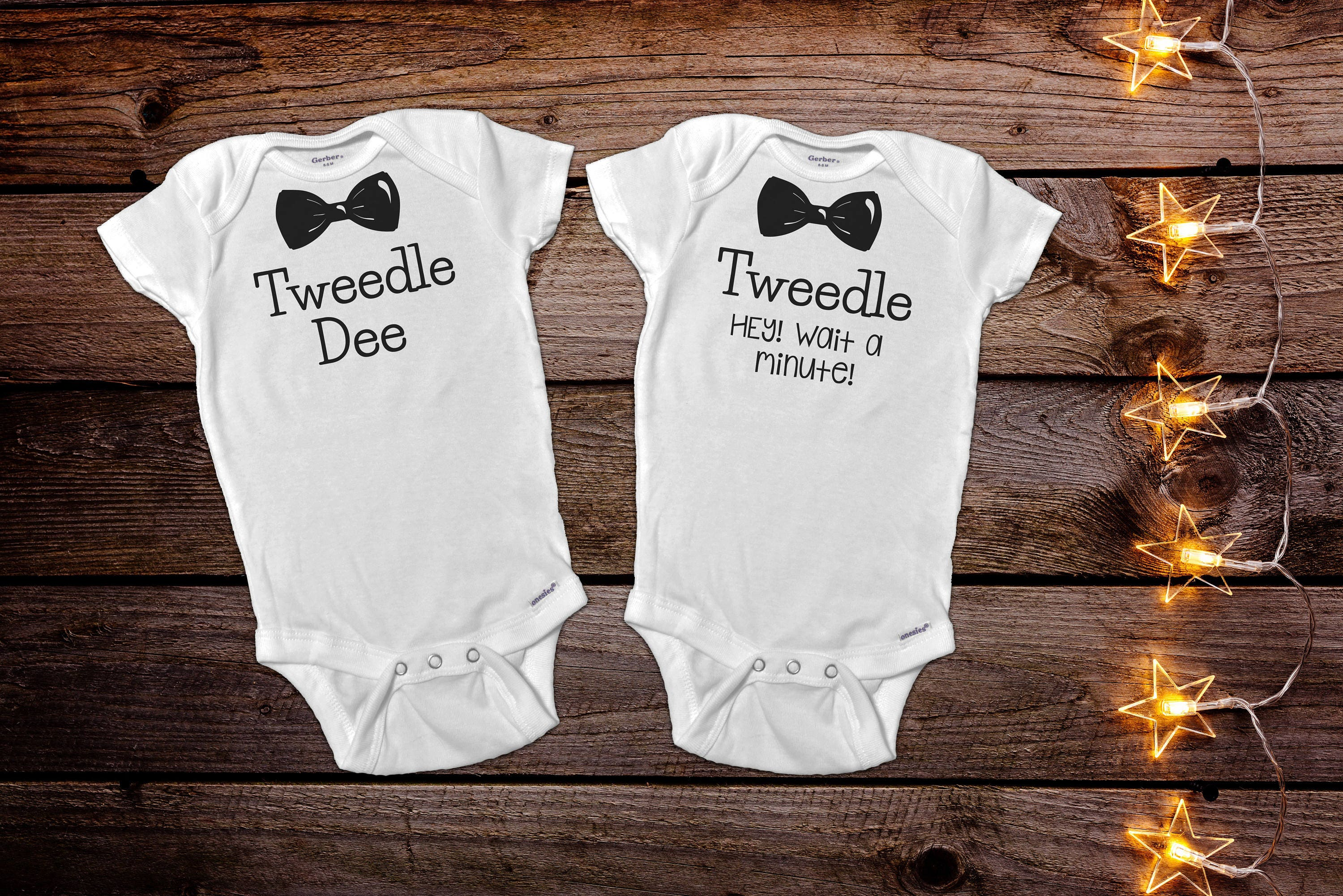 Funny Twin esies Funny Baby esie Twin Baby Gift Baby