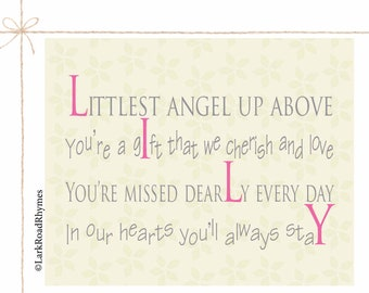 Baby Memorial Infant Loss Gifts Miscarriage Remembrance Stillborn Gift Sympathy Gift Condolence Gift In Memory Of Baby Poem 8x10