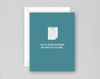 Funny Retirement Card | To Do List Card | Retirement To Do List