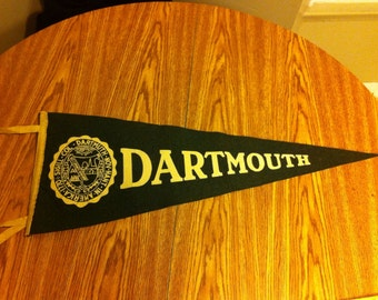 Dartmouth College Vintage Felt Pennant