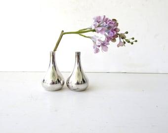 Mid Century Modern Silverplate Dansk Candleholders - Silverplate Onion Dansk - Scandinavian Design - Made in Denmark - Jens Quistgaard -