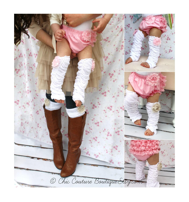 Valentine s Day Baby Girl Chiffon Rose Ruffle Leg Warmers