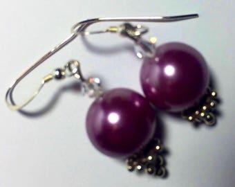 Lavender Luster Beaded Earrings