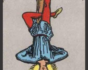 The Hanged Man Tarot Card - Vinyl Sticker Decal - Full Color CAD Cut Car occult