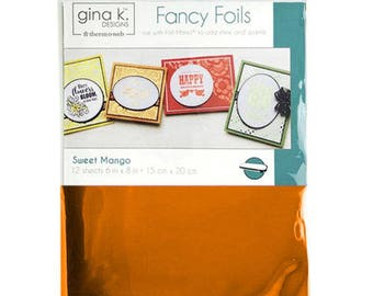 Therm O Web - Fancy Foils - 6 x 8 - Sweet Mango