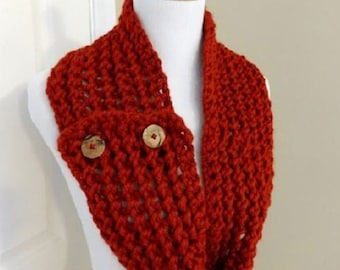 BUTTONED FRONT COWL