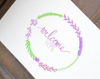 Welcome Home Wreath Art - Sharpie Art