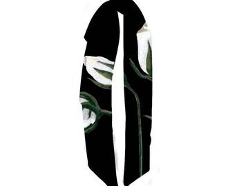 White Rose Scarf Long