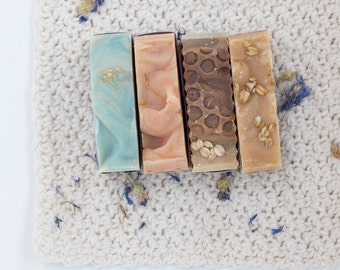 3 Handmade Soaps of Your Choice-Handmade soap, Variety pack soap, Natural soap, Choose your own soap, Three soaps