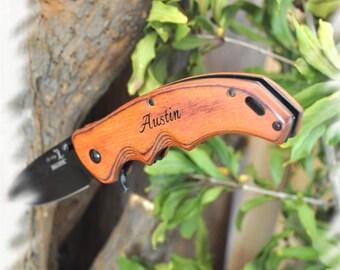 Engraved Pocket knife ( SET OF 1 ) , Rescue Knife ,Engraving Knife ,Best Man gift ,Personalized Gifts Knife , Groomsman knife , Wedding Gift