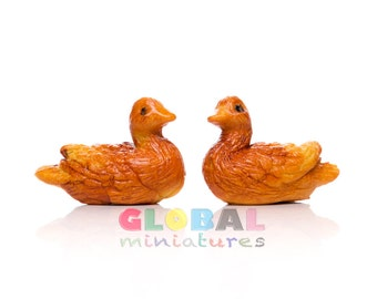 Dollhouse Miniatures Pair of Brown Duck