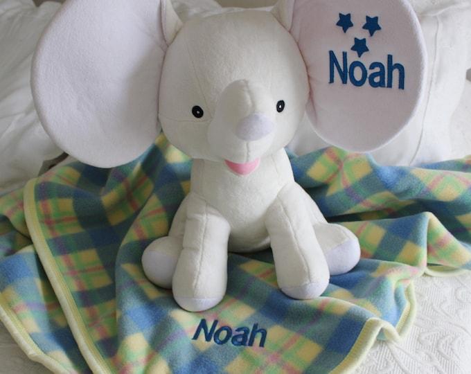 Personalized Cuddly Soft Plaid Baby Blanket, Personalized Baby Gift, Newborn Gift, Monogrammed blankets, Crib blanket, Custom Blankets
