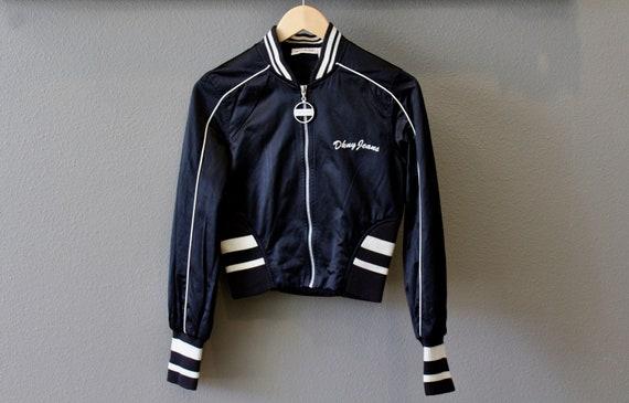 Vintage 90s HOF Leather Sleeve Baseball Jacket FAcv9F