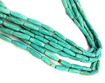 8X25mm Natural Turquoise Gemstone,blue Faceted rice olive Turquoise jewelry beads strand 16inch