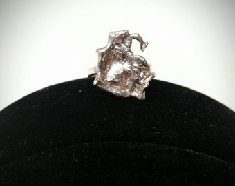 Solid Silver Splash Ring