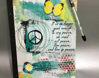 It is No Longer Good... - Altered Composition Notebook / Journal