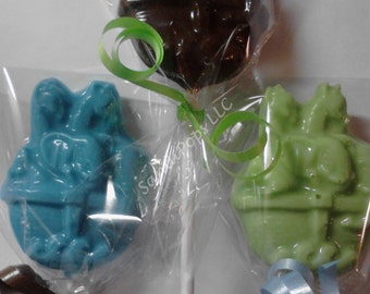 24 Noah's Ark Baby Shower or announcement chocolate lollipops