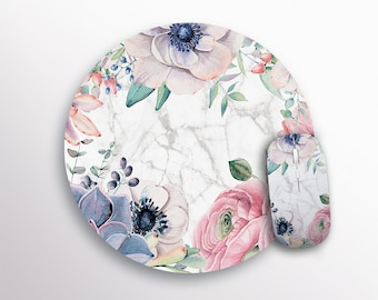 Mouse Pad Office Desk Accessories Marble Mouse Pad Cute Pad Rectangular Mouse Pad Floral Mouse Pad Marble Mousemat Round Mouse Pad DR3670